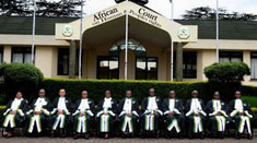 Judges at the African court on Human and Peoples' Rights
