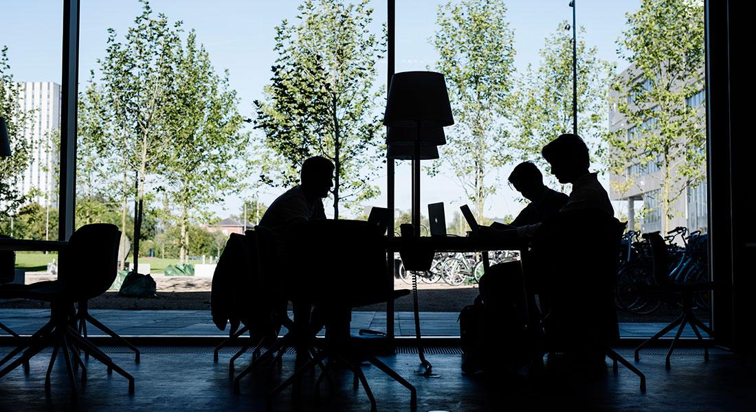 Studerende på Søndre Campus