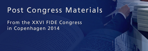 Post congress materials from the XXVI FIDE Congress